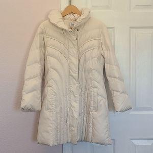 EUC Cream Long Line Puffer Jacket